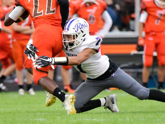 Chrystjan Mancini of Fremont Ross can make plays in