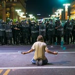 Police pepper-spray protesters in Phoenix