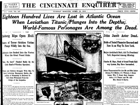 The Enquirer's Titanic coverage
