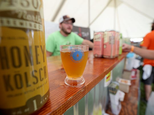A sellout crowd of about 8,000 beer lovers were on