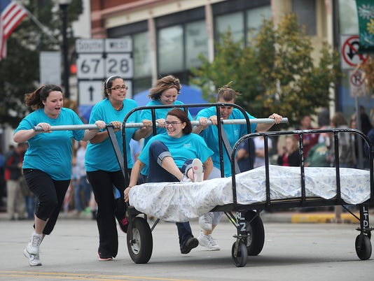 Mayville Audobon Days Bed Races 2013