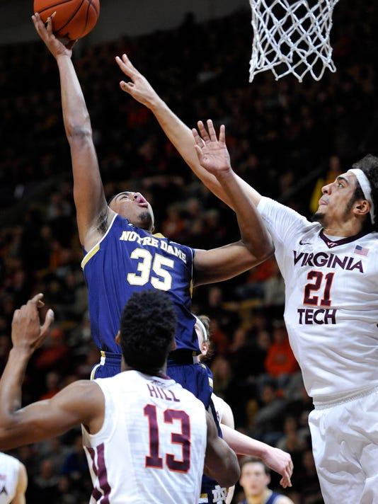 NCAA Basketball: Notre Dame at Virginia Tech