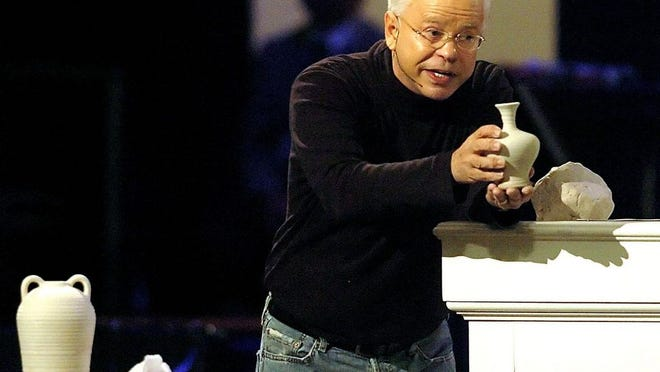 Televangelist Jim Bakker delivers his sermon during the MorningStar Fellowship Church New Year's Conference, in Fort Mill, S.C., Friday, Dec. 30, 2005.
