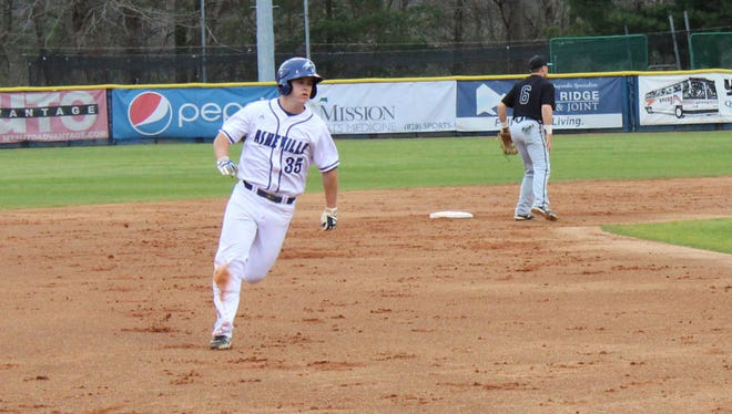 Roberson graduate Tanner Bush is a freshman for the UNC Asheville baseball team.