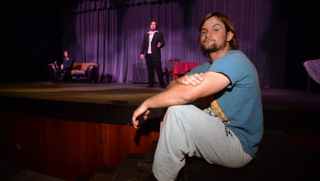 """Travis Vermulm directs the University of Providence theater production, """"The Importance of Being Earnest."""""""