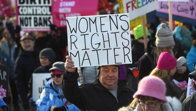 Thousands participate during the Million Women's March in Reno on Jan. 21, 2017.