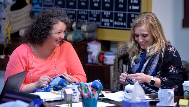 Donde Hayes and Melissa Kovacich are the new co-owners of Fiber House, which was formerly Pam's Knit'n Stitch.