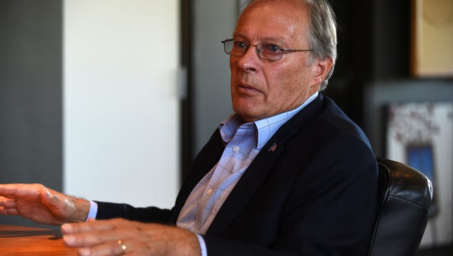 Clint Koble, Democratic congressional candidate running against Mark Amodei, speaks with the RGJ in Reno on Sept. 6, 2018.