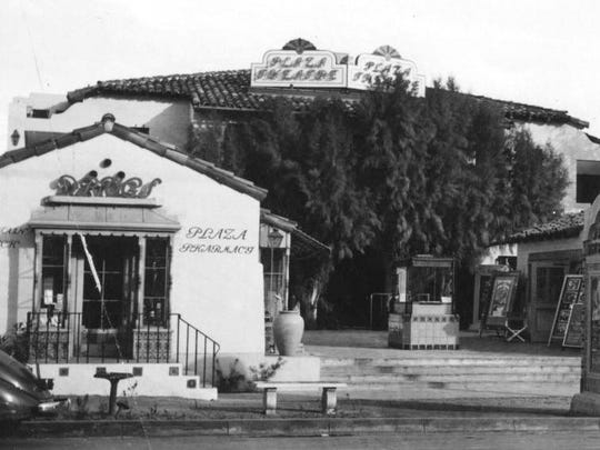 Plaza Theatre's box office located at 207 N. Palm Canyon Drive in 1936.