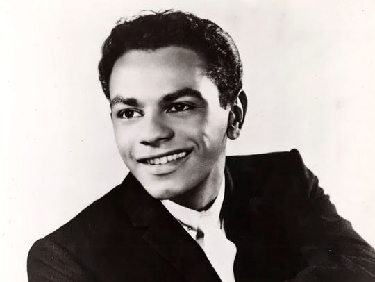 A promotional image of Johnny Mathis from the late