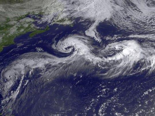 Hurricane Cristobal seen from space.