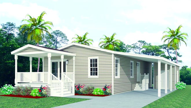 The Concord model by Jacobsen Homes in Tall Oaks of Naples will be completed later this year.