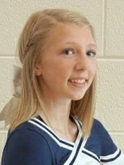Marysville High School sophomore cheerleader Kaia Scheffler.