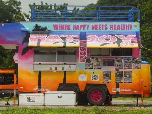 The Fat Boy Slim food truck in Hagåtña on Oct. 10,