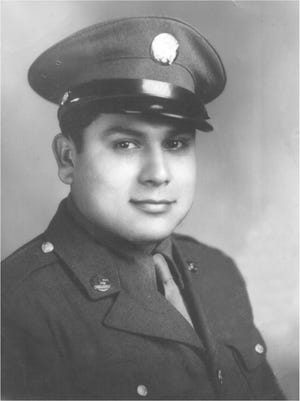 Ignacio Carmona is pictured in his Army uniform when he was a young man in his late 20s.