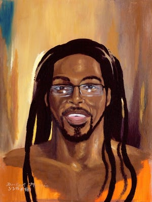 """""""Self Portrait"""" by DarRen Morris, part of his """"Art and Redemption"""" exhibit in February at Unitarian Universalist Gallery."""