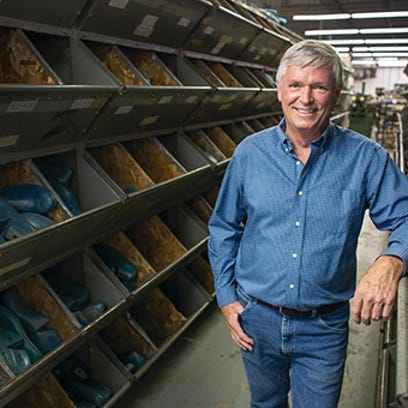 Pete Zeliff, CEO and owner of P.W. Minor shoe company