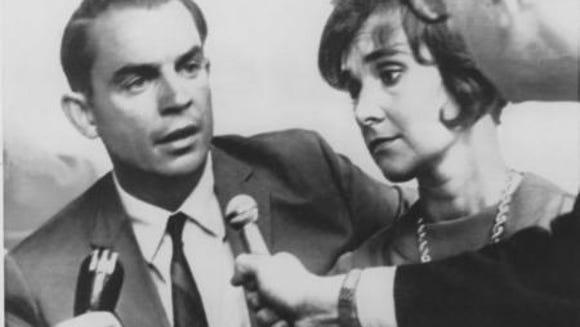 Bob Finkbine and his wife, Sherri Chessen, talk with