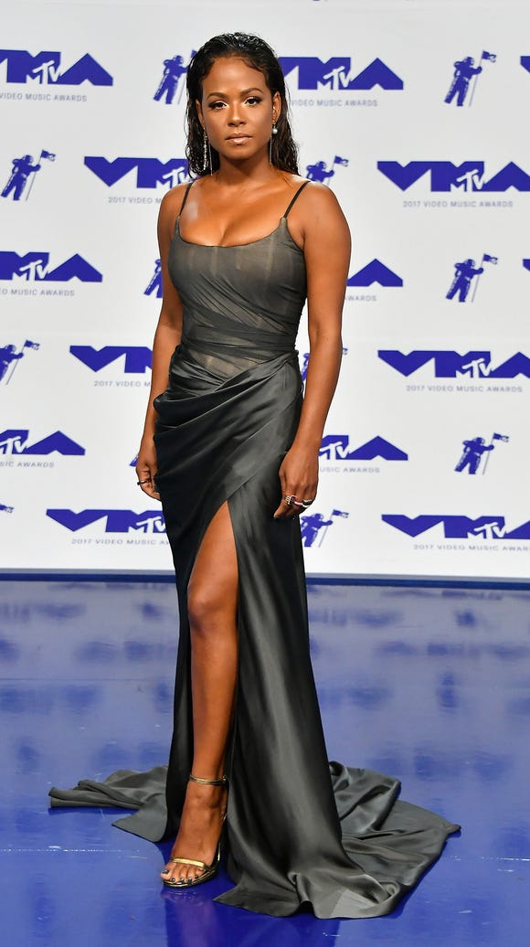 Christina Milian went for a classic silhouette.