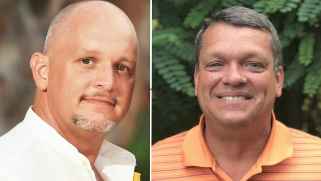 Ronald Blankenship Jr., left, will face incumbent Lowell Winne Jr. for the Manlius Township supervisor position on the Republican primary ballot in August.