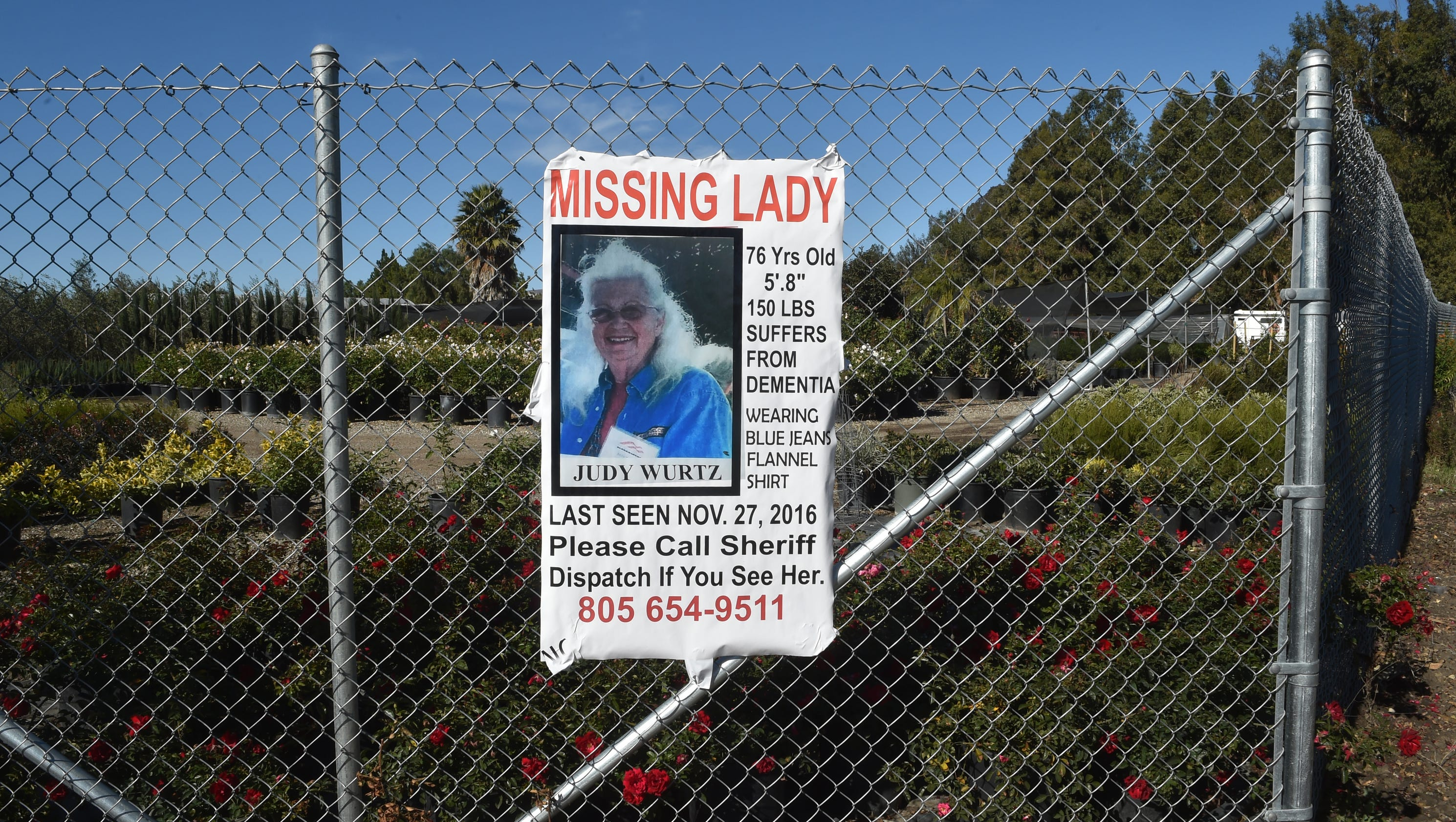 somis women In the two days since judy wurtz went missing, searchers have fanned out across her somis neighborhood.