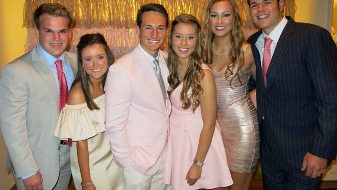 Gilded Gala Debutantes and dates: Frazier Horn and Caroline Bowman, Grant Spillers and Jessica Atchison and Ansley Tipton and William McCauley.