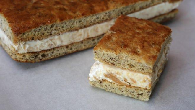 The Fluffernutter ice cream sandwich on banana bread made by the Sherry B Dessert Studio in Chappaqua, June 30, 2015.