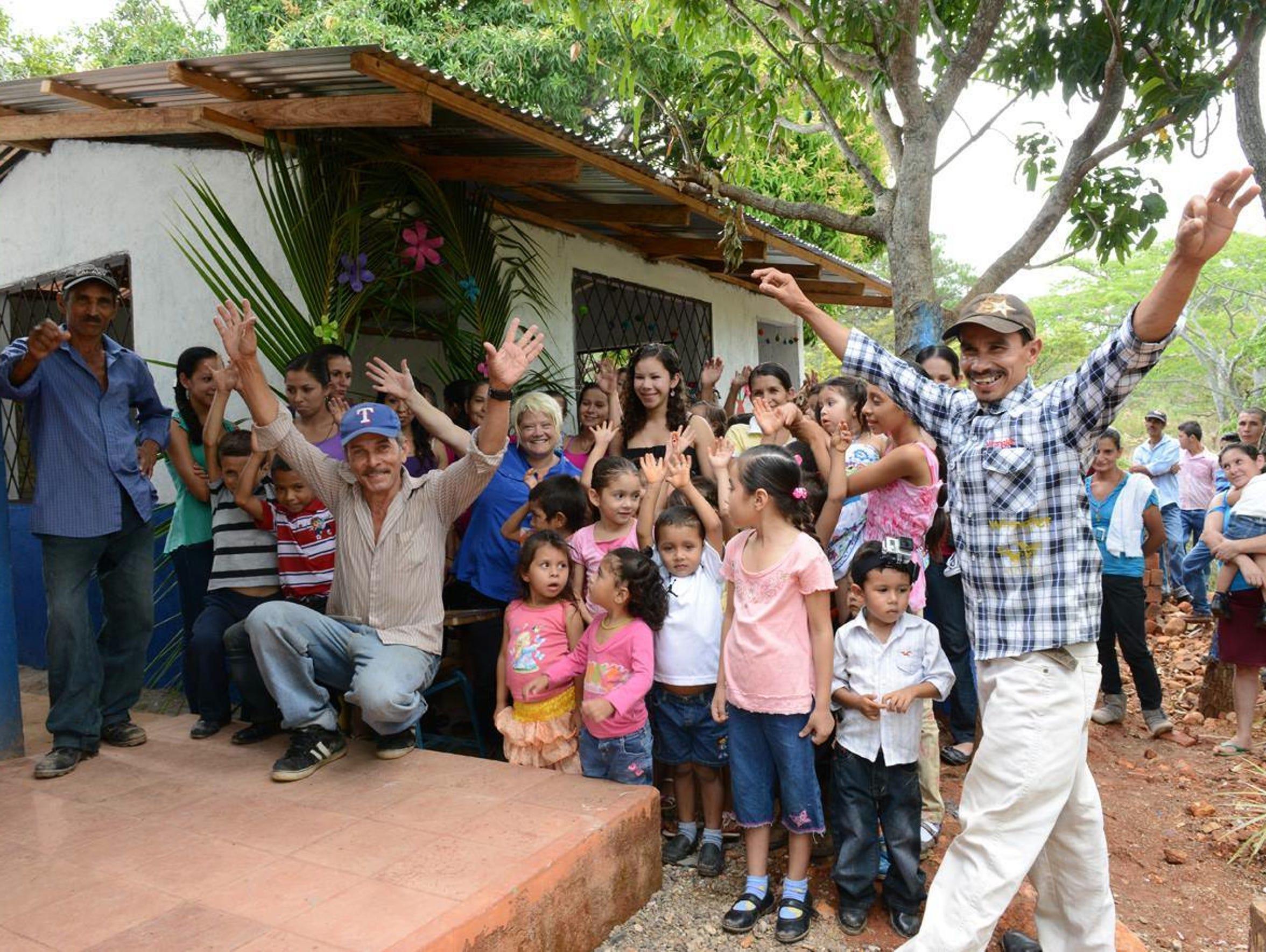 Las Minitas celebrates opening day of the new school.