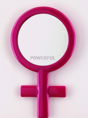 """""""Reflections, (Powerful)"""" by Michele Pred is part of the exhibit """"The Future is Female"""" at 21c Museum Hotel."""