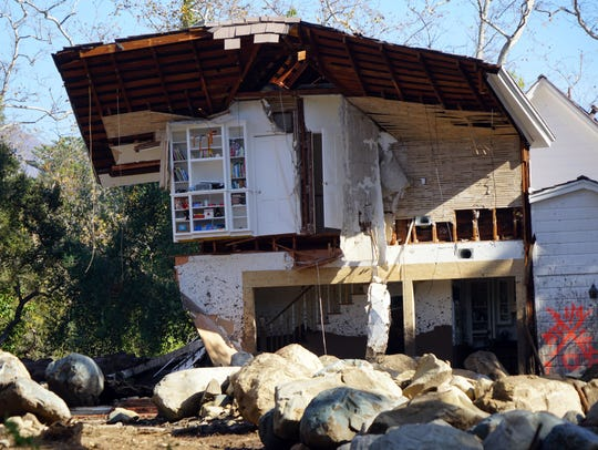 The rushing power of the Montecito mudslides tore off