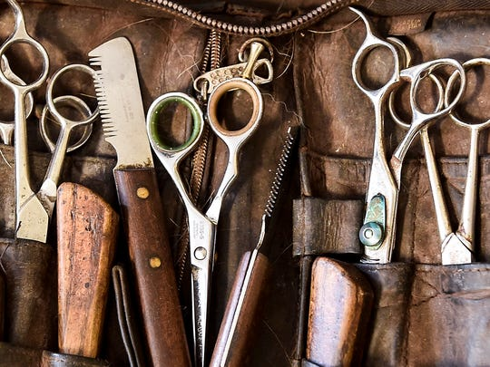 Grooming tools ready to be used this weekend during