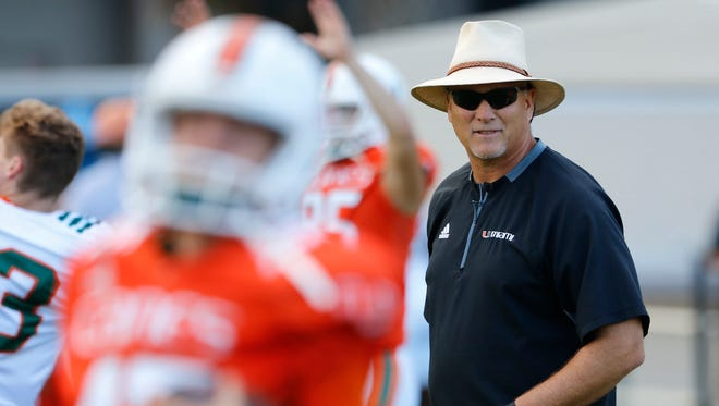 Mark Richt returned to his alma mater, Miami, last season after winning 74% of his games in 15 seasons as coach at Georgia.