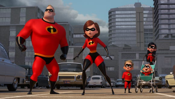 """Incredibles 2"" doesn't miss a beat, opening right where the first movie left off. But 14 years later, it isn't quite as fresh."