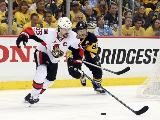 NHL: Stanley Cup Playoffs-Ottawa Senators at Pittsburgh Penguins