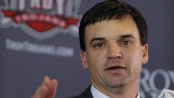 Troy coach Neal Brown will take his Trojans to Starkville