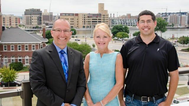 Base Companies LLC was formed in June by former Smet employees, from left, Paul Belschner, Karen Klevesahl and Joash Smits.