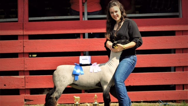 Madison Woody, a junior at Norfork High School, was recently named the Bill Dorough Outstanding Exhibitor in the market sheep division at the Arkansas State Fair. This award recognizes the skills achieved and the successes of FFA members through their market animal projects at the Arkansas State Fair.  Madison is the daughter of Derak and Trisha Woody of Norfork and is a member of Norfork FFA.