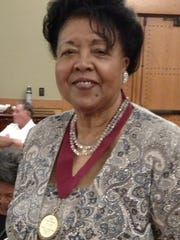 Frankie Early, president of the Cenla Retired Teachers Association, accepted an award from the Louisiana Retired Teachers Association in October.