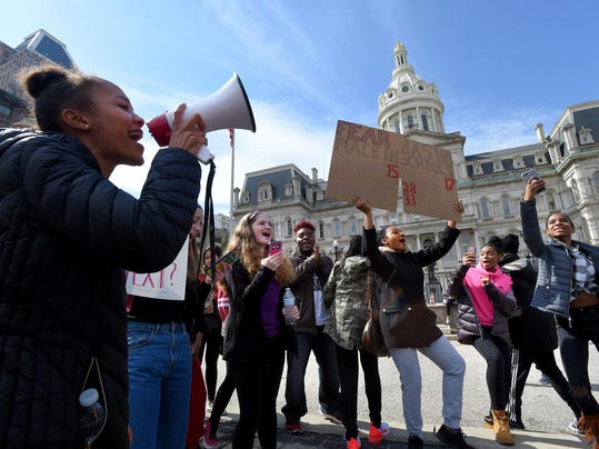 Baltimore students marching against gun violence