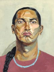 """""""Young Ute Man"""" by Meredith Rose"""