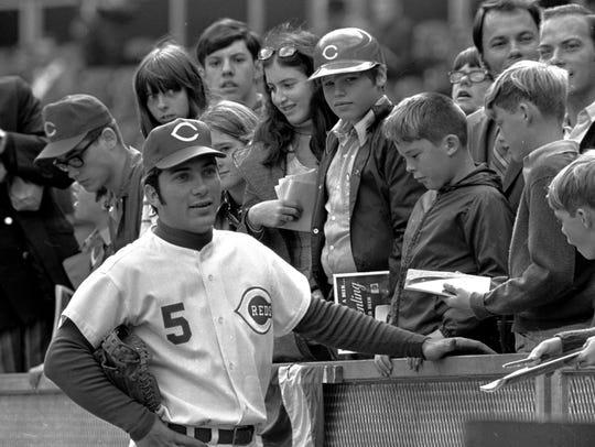 Johnny Bench, Cincinnati Reds' catcher, was named the