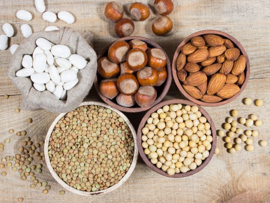 Various sources of plant protein. The concept of vegetarian