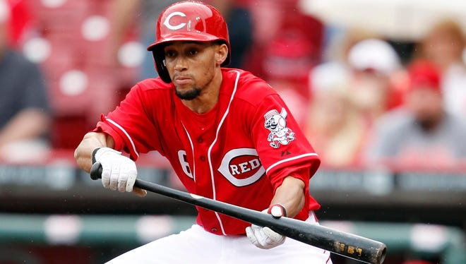Reds outfielder Billy Hamilton has been working on his bunting technique this offseason to help him improve his ability to get on base.