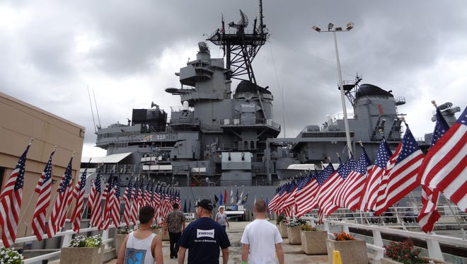 Columnist Capi Lynn visits the historical sites at Pearl Harbor, including the USS Missouri, while on vacation in April 2013.