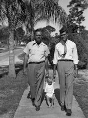 From left, Perry Gayden Snell, Sr., Frank Snell, Perry