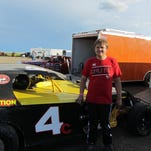 Travis Schumate of Great Falls is a rookie Midwest Modified stock car driver at Electric City Speedway.