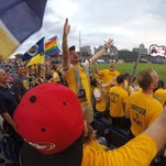 Soccer hooligans? Hardly. Nashville SC Roadies are a day full of fun