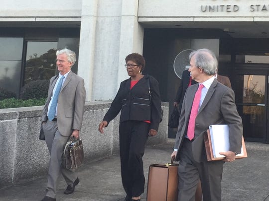 Linda Bolton leaves the William M. Colmer Federal Courthouse