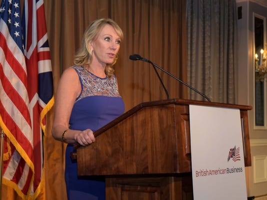 Sharon Rowlands at BritishAmerican Business Dinner