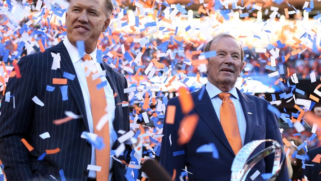 Denver Broncos owner Pat Bowlen, right, deserves to be in the team's Ring of Fame along with executive vice president of football operations John Elway.